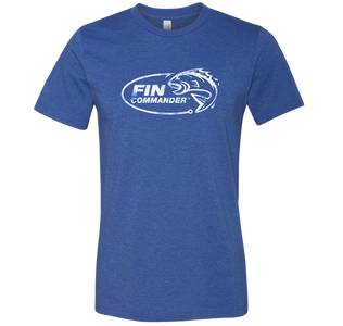 Royal blue heather bella canvas Triblend graphic logo fishing t-shirt