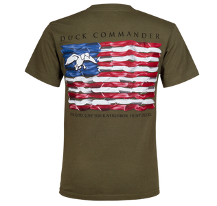 Duck Commander Moss Flag T-Shirt