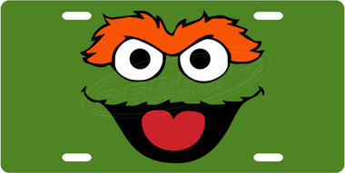 oscar the grouch license plate tag from redeye laserworks rh redeyelaser com oscar the grouch clipart black and white oscar the grouch clipart black and white