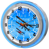 "Large 18"" Mustang Clock with Red Neon Outer Ring"