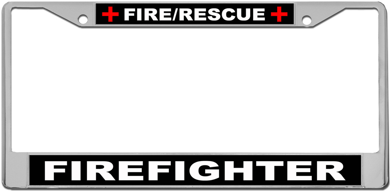 Fire/Rescue Firefighter Custom License Plate Frame