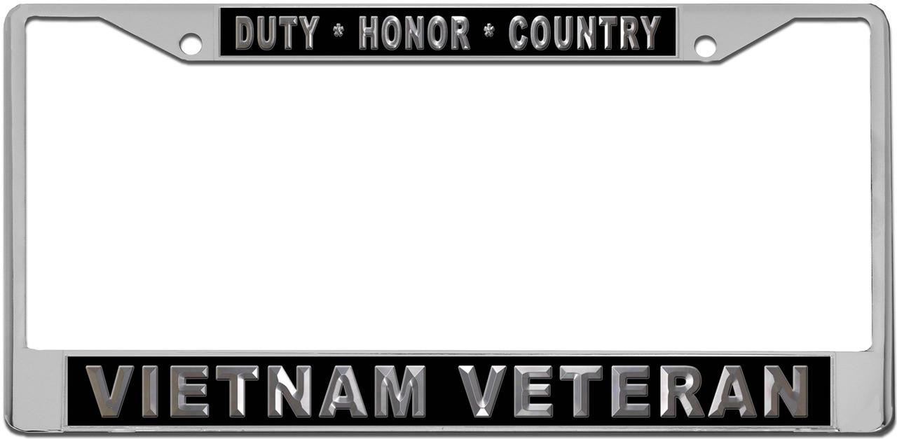 Duty Honor Country Vietnam Veteran Custom License Plate Frame