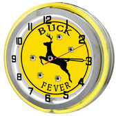 Hunter Neon Yellow Clock