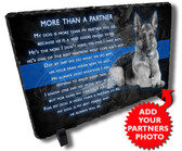 Police Dog Partner Stone Plaque