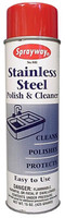 Sprayway 841 Stainless Steel Polish & Cleaner 20 oz.