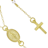"""GOLD PLATED MOONSTONE ROSARY NECKLACE 18"""" + 2"""""""