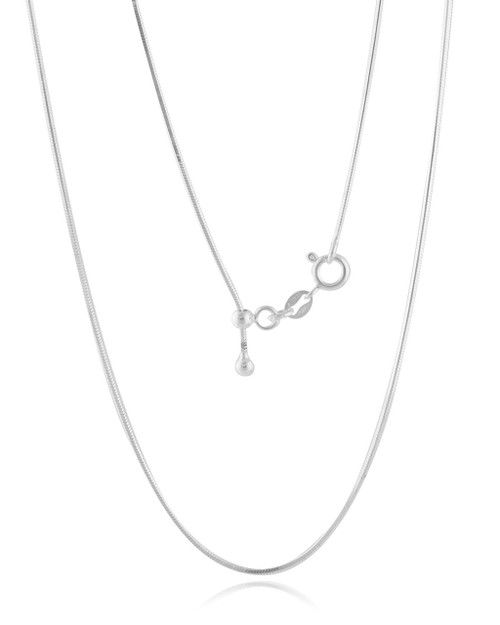 "ADJUSTABLE STERLING SILVER SNAKE CHAIN 020 (1.0MM) 14"" TO 22"""