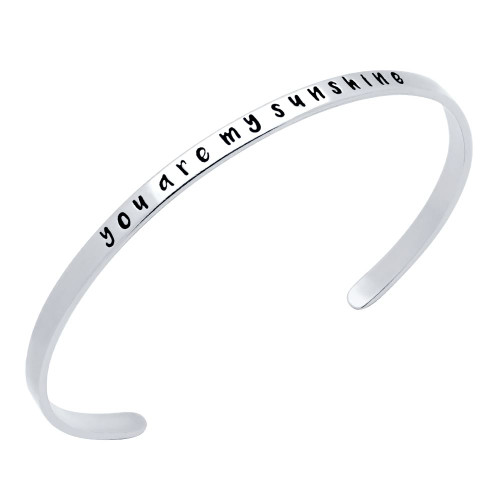 "STERLING SILVER ""YOU ARE MY SUNSHINE"" BANGLE"