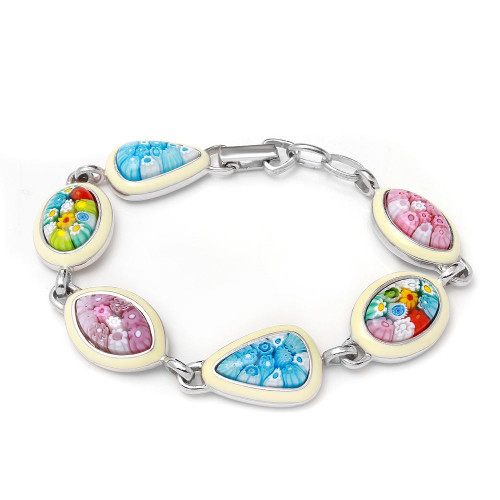 MILLACRELI MULTI SHAPE AND MULTI COLOR BRACELET 7""