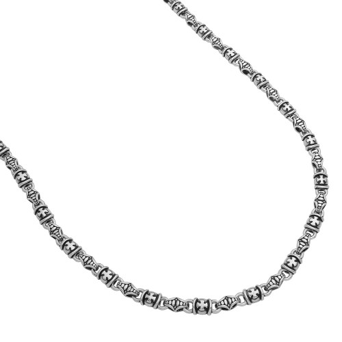 TWISTED BLADE SILVER MALTESE-LINK CHAIN NECKLACE