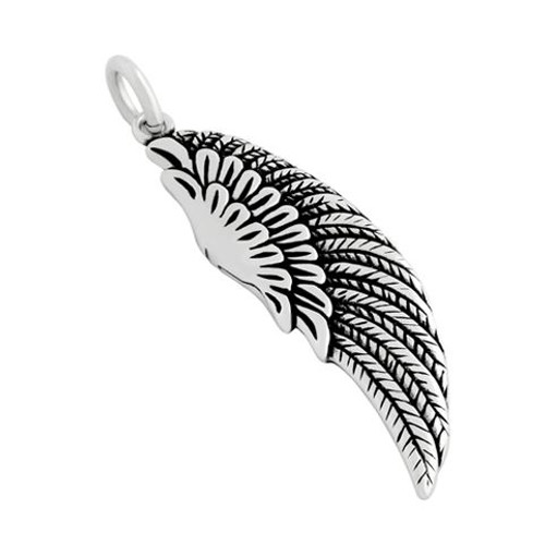 STERLING SILVER 36MM LARGE WING CHARM