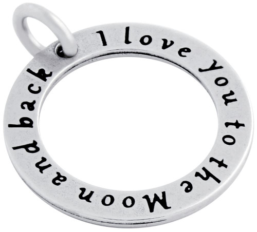 """I LOVE YOU TO THE MOON"" CIRCLE CHARM"