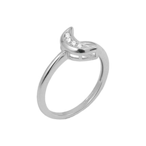 PAVE CZ MOON RING