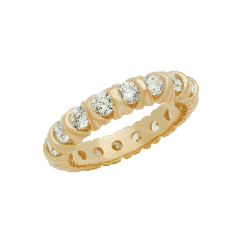 ROSE GOLD PLATED XO ETERNITY STYLE CZ BAND RING