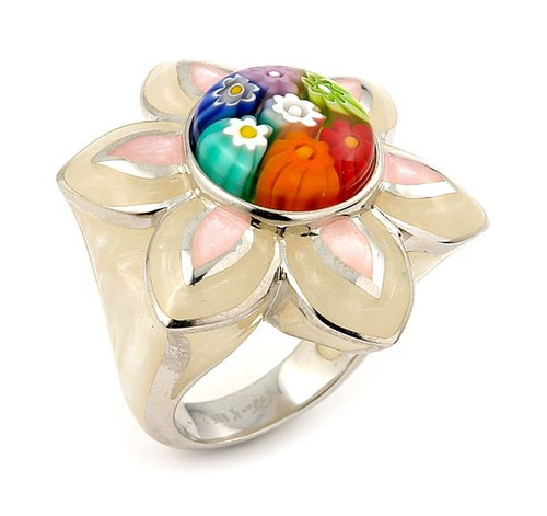 MILLACRELI MULTI COLOR FLOWER RING