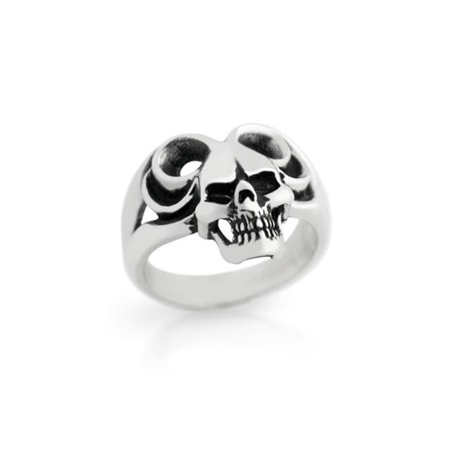 STERLING SILVER MENS SKULL RING