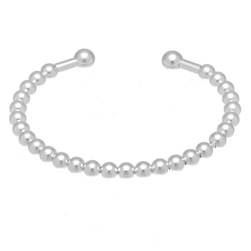 STERLING SILVER BEADED BABY BANGLE 5""