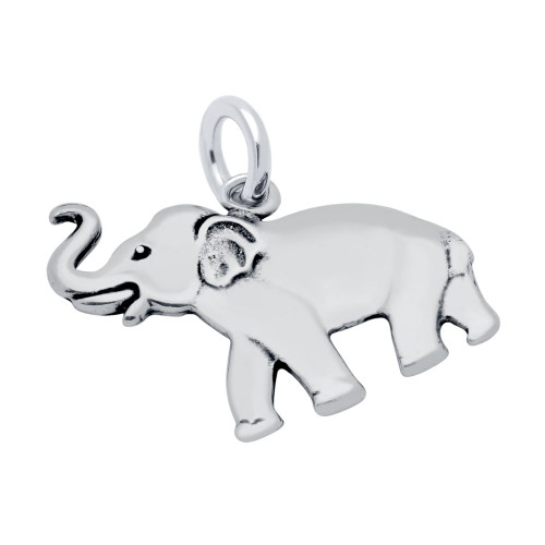 SIDE VIEW ELEPHANT WITH TRUNK CHARM