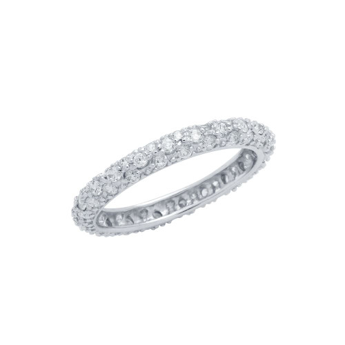 THIN CZ BAND RING