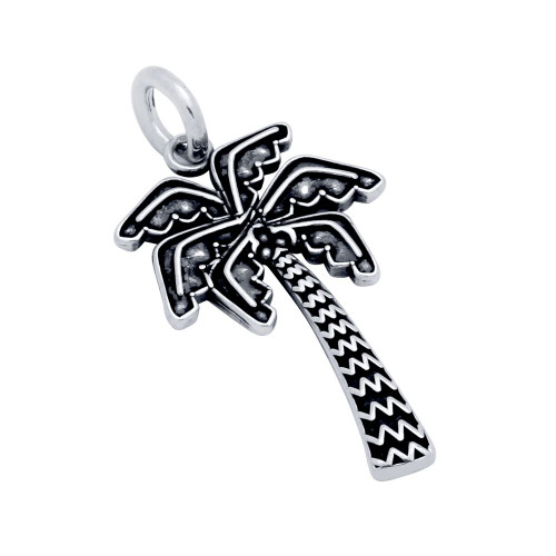 STERLING SILVER 26MM PALM TREE CHARM