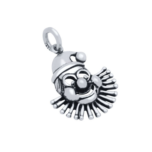 STERLING SILVER CLOWN HEAD CHARM