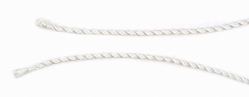 "WHITE SATIN ROPE CORD 18"" (4MM)"