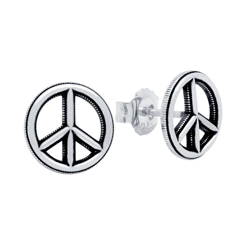 PEACE SIGN STUD EARRINGS