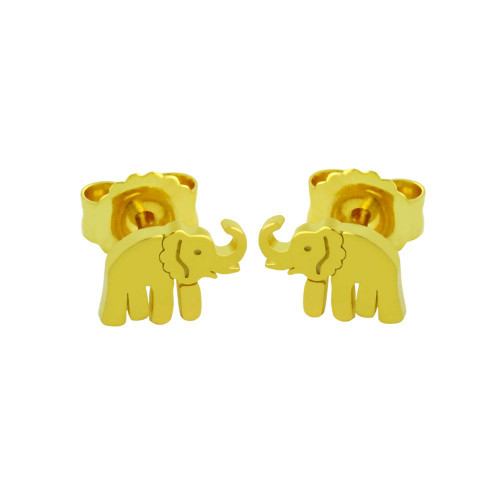 GOLD PLATED STERLING SILVER ELEPHANT EARRINGS