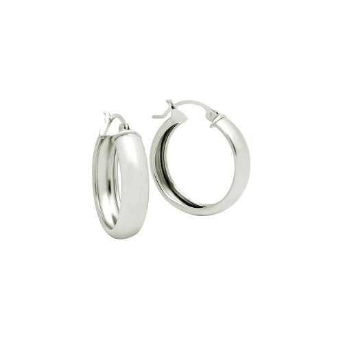 STERLING SILVER 23MM LIGHTWEIGHT HOOP EARRINGS