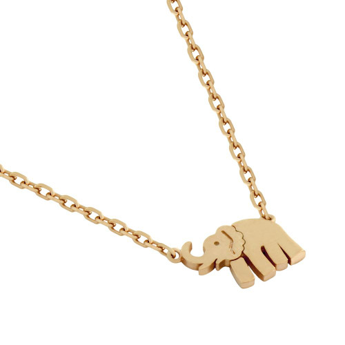 "ROSE GOLD PLATED ELEPHANT NECKLACE 16"" + 2"""