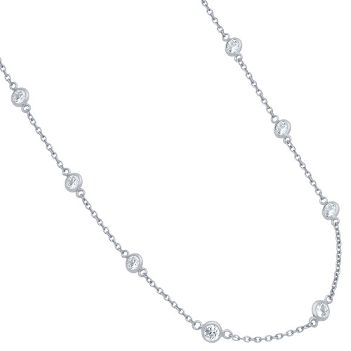 4MM BEZEL CZ BY THE YARD NECKLACE 18""
