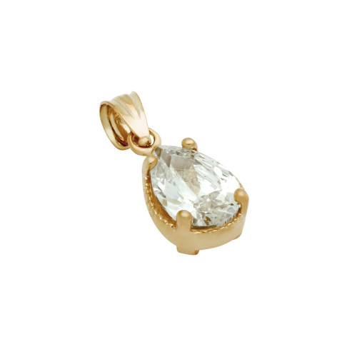 ROSE GOLD PLATED TEARDROP CZ PENDANT