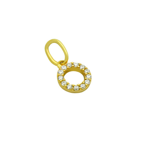 GOLD PLATED 7MM CZ ETERNITY CIRCLE PENDANT