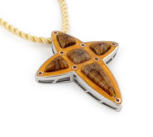 MILLACRELI BROWN CROSS PENDANT