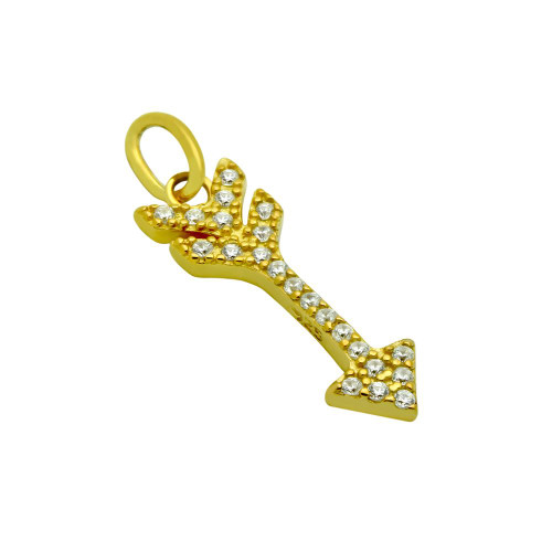 GOLD PLATED CZ ARROW PENDANT