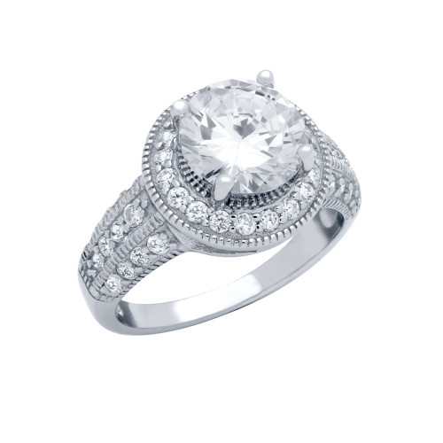ROUND CZ PRONG RING