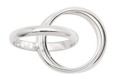 3MM 3 BAND RINGS ( SZ 10-13 )