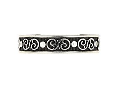 STERLING SILVER CELTIC AND STUDDED ADJUSTABLE TOE RING