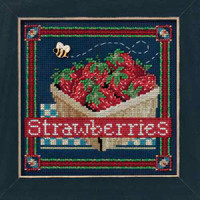 Strawberries Cross Stitch Kit Mill Hill 2016 Buttons & Beads Spring MH141613