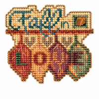 Fall in Love Bead Cross Stitch Kit Mill Hill 2016 Autumn Harvest MH181623