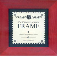 Holiday Red Solid Color Mill Hill 6 x 6 Wooden Frame GBFRM9