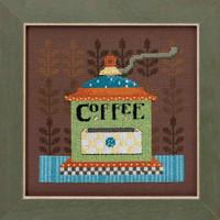 Coffee Grinder Cross Stitch Kit Mill Hill Debbie Mumm 2016 Good Coffee & Friends DM301612