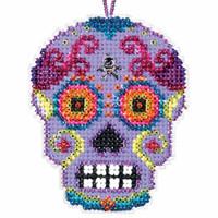 Morado Beaded Cross Stitch Halloween Kit Mill Hill 2016 Calavera MH161621