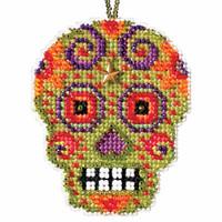 Verde Beaded Cross Stitch Halloween Kit Mill Hill 2016 Calavera MH161622