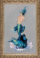 Aphrodite Mermaid Kit Cross Stitch Chart Fabric Beads Braid Nora Corbett Mirabilia MD144