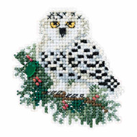 Snowy Owlet Cross Stitch Ornament Kit Mill Hill 2016 Winter Holiday MH181633