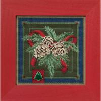 Festive Pine Cross Stitch Kit Mill Hill 2016 Buttons & Beads Winter MH141634