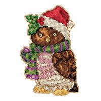 Owl Beaded Counted Cross Stitch Kit Mill Hill 2016 Jim Shore JS201616