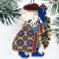 Eastern Star Santa Beaded Ornament Kit Mill Hill 2000 Starlight Santas