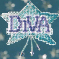 Diva Beaded Cross Stitch Ornament Kit Mill Hill 2008 Spring Bouquet